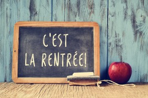 text cest la rentree, back to school in french