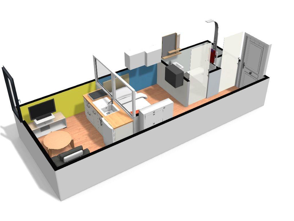 Studio 20 m² 3D