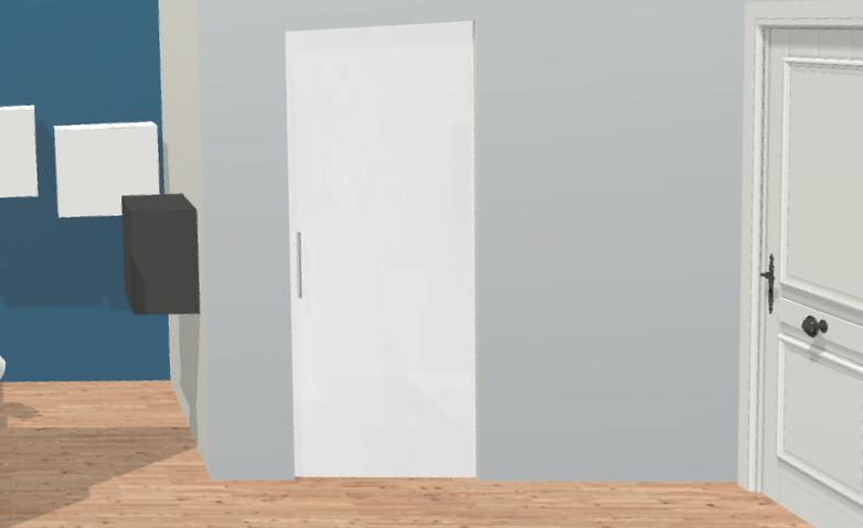 Porte à galandage 3D