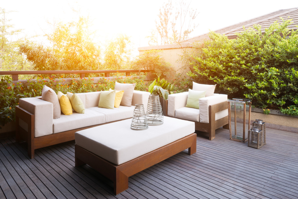 elegant furniture and design in modern patio