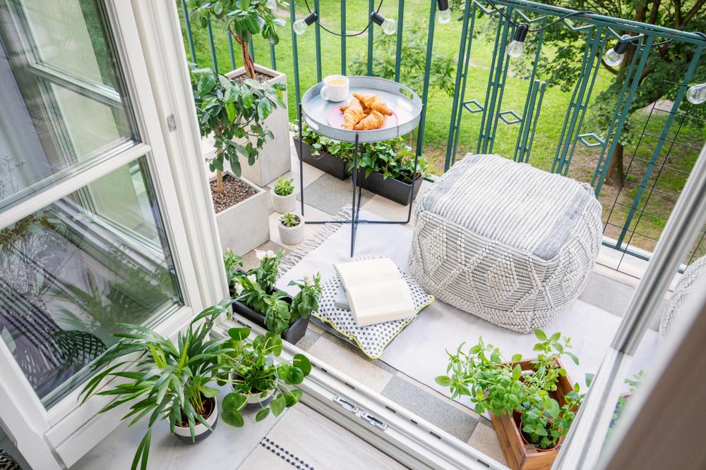 Décoration d'un petit balcon